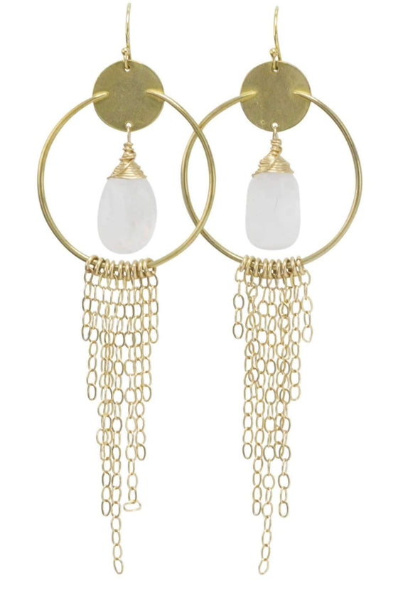 The OM Collection Bohemi Ligo Earring-Bronze