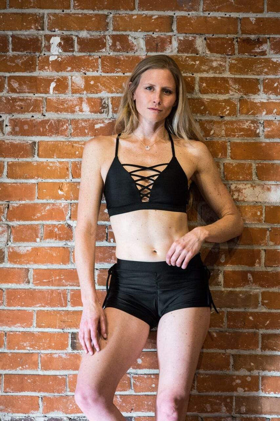 The OM Collection Bra Top Black / S Lace up Bra