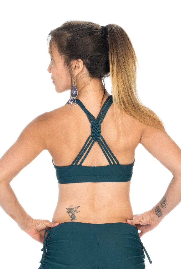 The OM Collection Bra Top Dark Teal / XS Weave Back Bra // Dark Teal