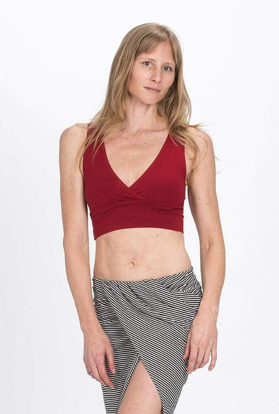 The OM Collection Bra Top Red / L Yoga Crop Top // Large Red