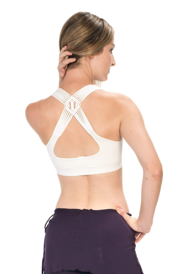 The OM Collection Bra Top White / XS Endless Weave Bra
