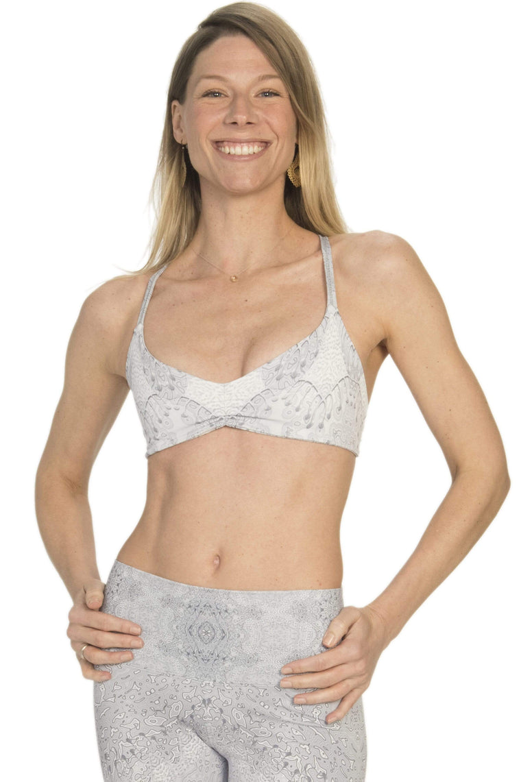 The OM Collection Bra Top XS Breathe Bra // Looking Glass Print