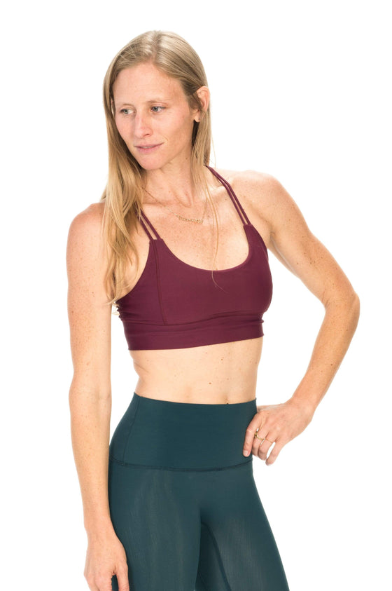 The OM Collection Bra Top XS / Maroon Oasis Crop Bra