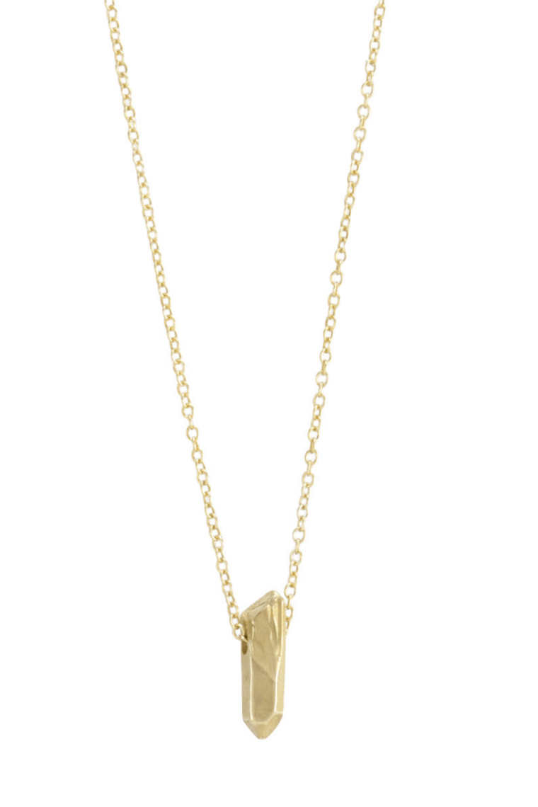 The OM Collection Bronze with 14K gold fill chain Bohemi Mini Vicus Necklace