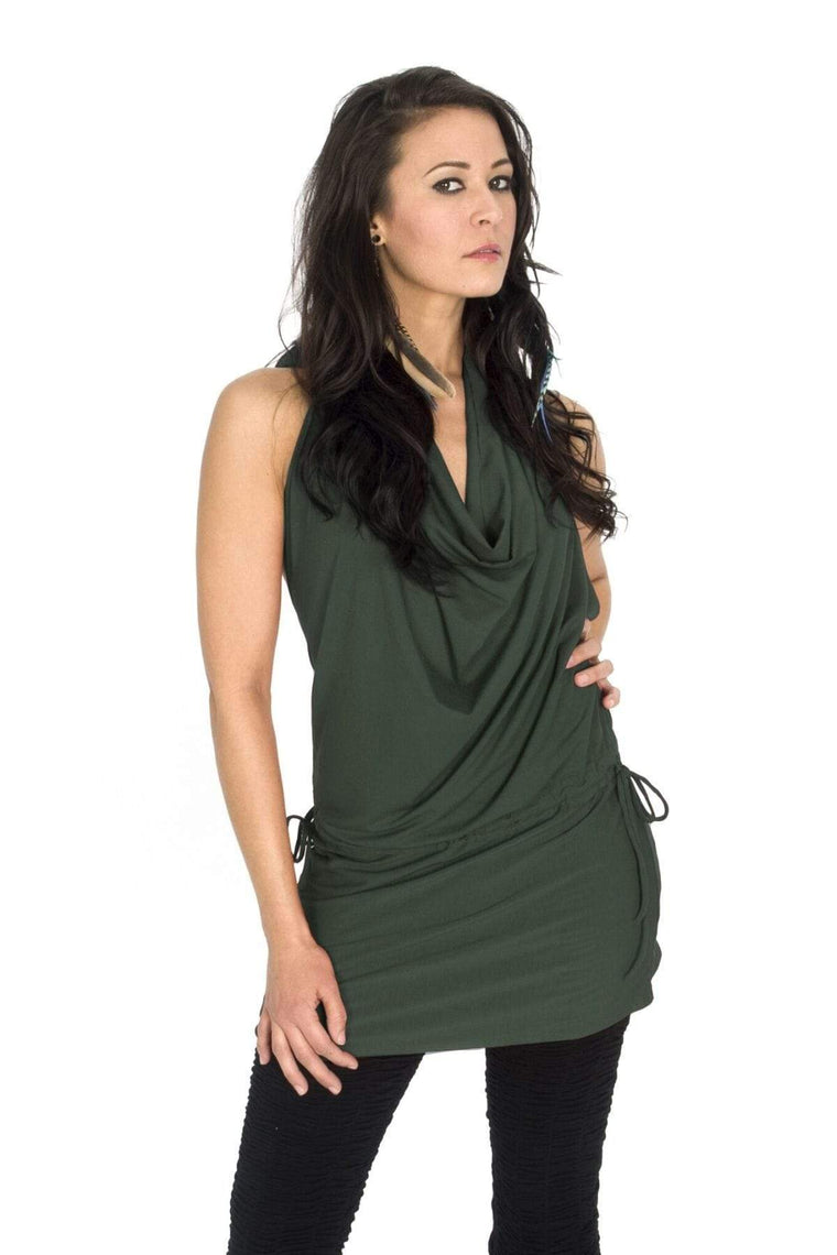 The OM Collection Dress Army / XS Backless Dress