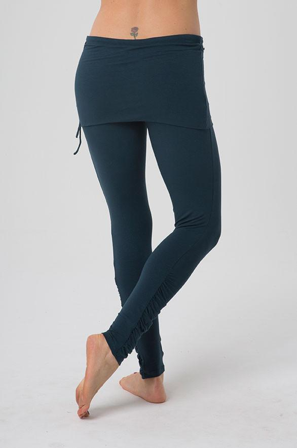 The OM Collection Leggings Dark Teal / S Ruched Leggings with Skirt // Colors Available