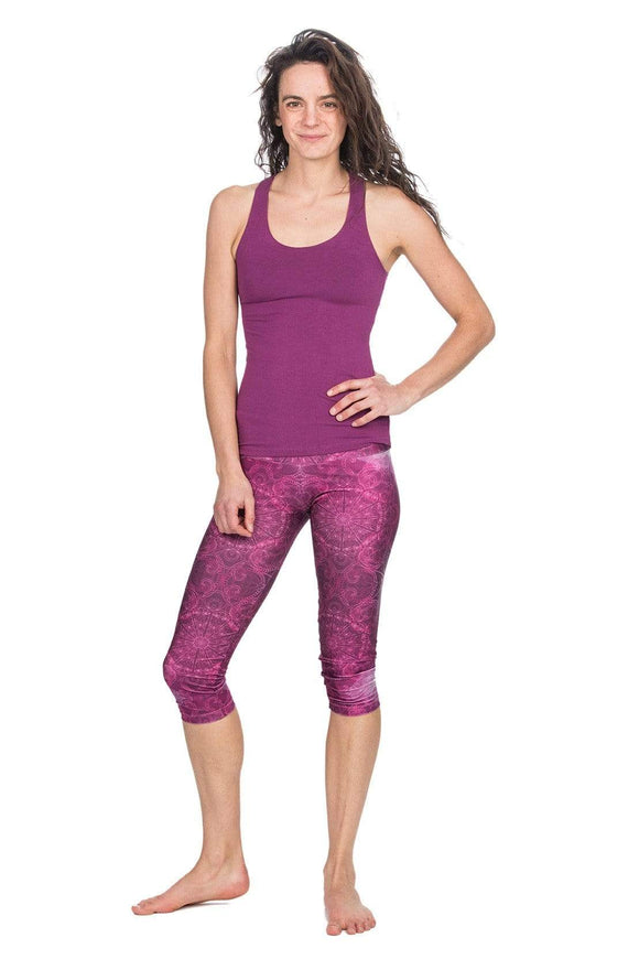 The OM Collection Leggings S H2OM Capri Leggings // Pink Geo