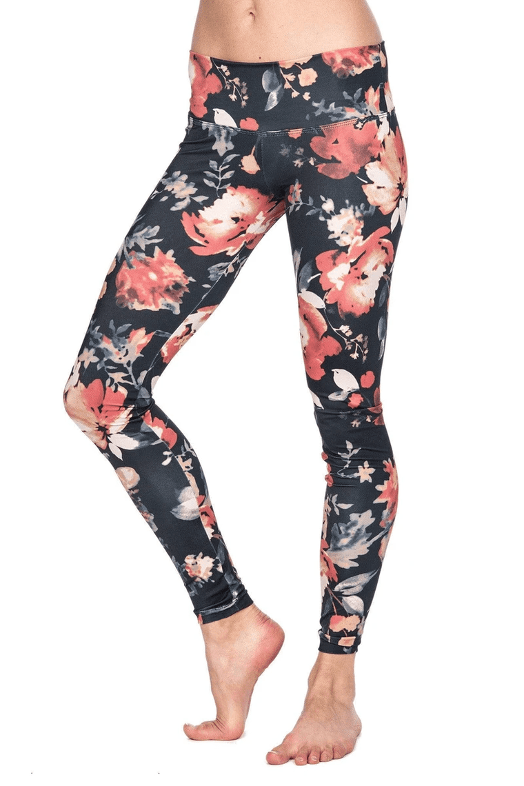 The OM Collection Leggings High Waist Legging // Vintage Black Floral