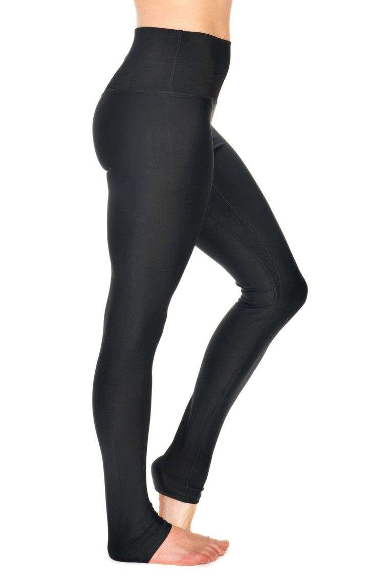 The OM Collection Leggings S Extra Long High Waist Legging // Black LUXE