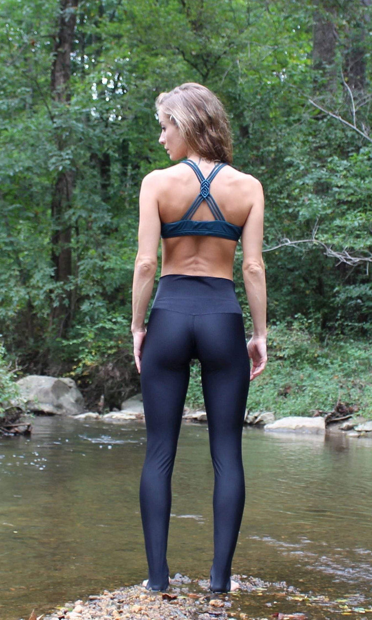 The OM Collection Leggings XS Extra Long High Waist Legging // Black LUXE