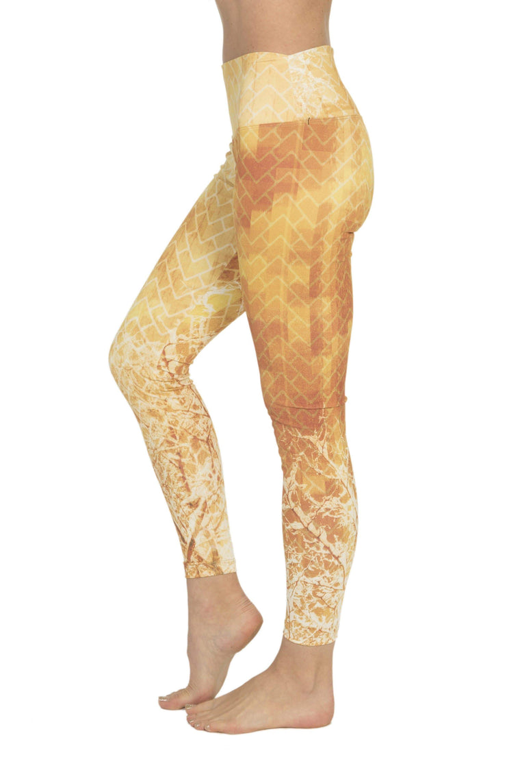 The OM Collection Leggings XXS High Waist Leggings // Inner Fire Print