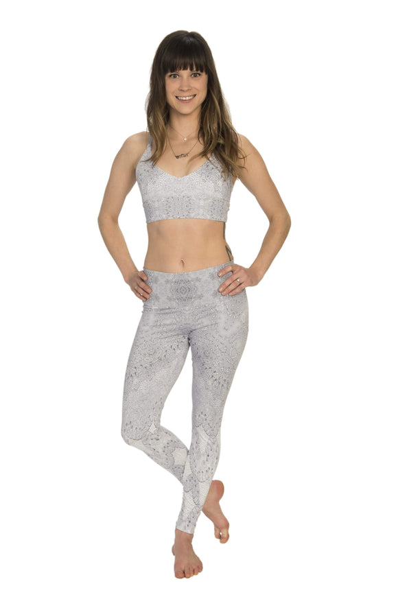 The OM Collection Leggings High Waist Leggings // Looking Glass Print