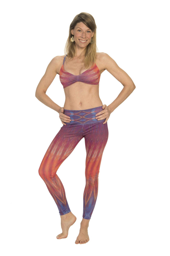 The OM Collection Leggings High Waist Leggings // Manifestation Print