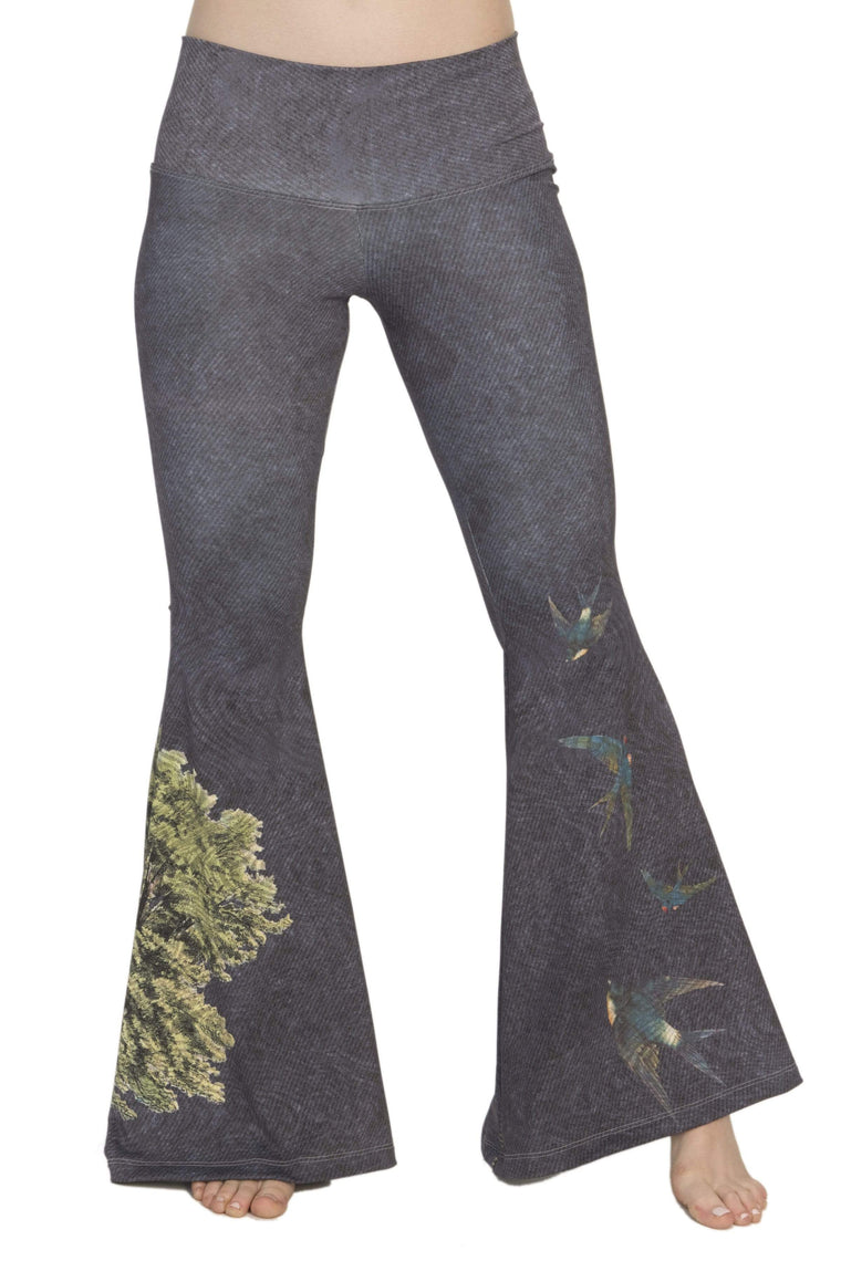 The OM Collection Pants Bell Bottoms // Free Bird Print