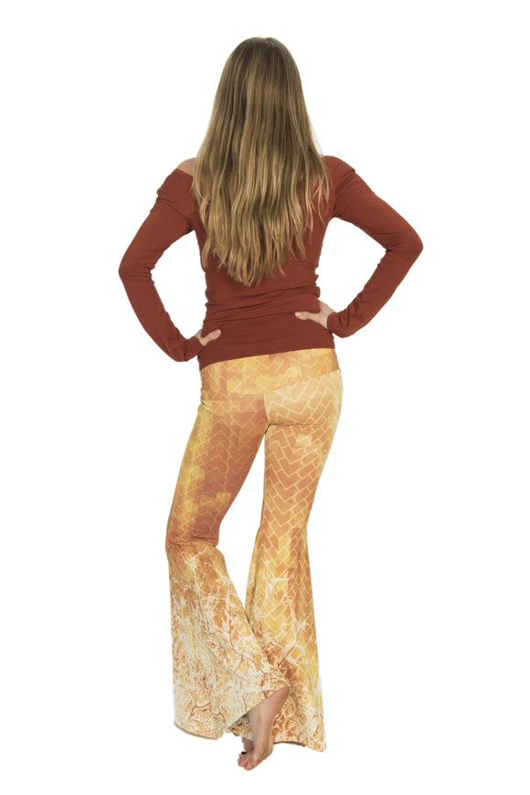 The OM Collection Pants XXS Bell Bottoms // Inner Fire Print
