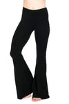 The OM Collection Pants Black / XS High Waist Bell Bottom