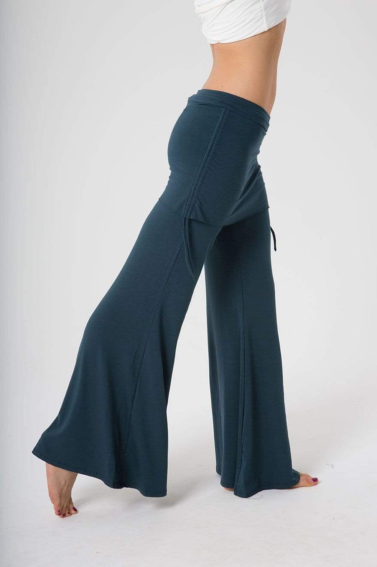 The OM Collection Pants Dark Teal / L Wide Leg Pant with Mini Skirt