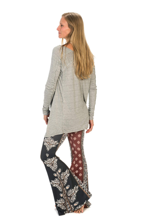 The OM Collection Pants Lush Wide Leg Bell Bottom // Sri Yantra Print