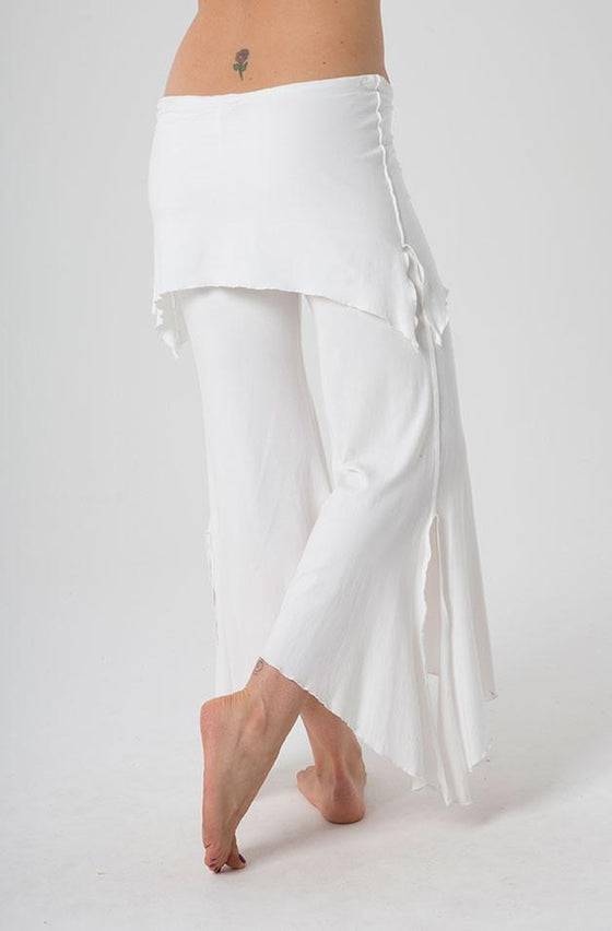 The OM Collection Pants Off White / L 2 Tier Flow Pant