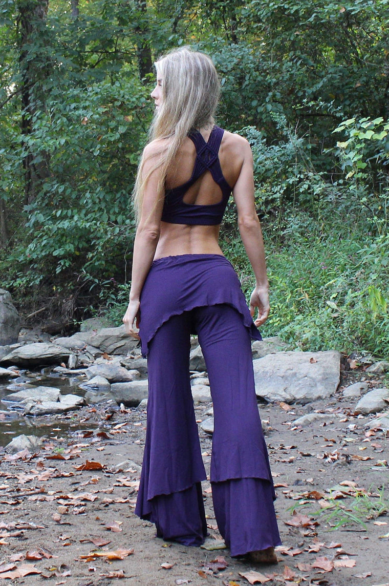 The OM Collection Pants Plum / XS 3 Tier Flow Pants // Monochrome