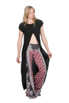The OM Collection Pants S Lush Wide Leg Bell Bottom // Sri Yantra Print