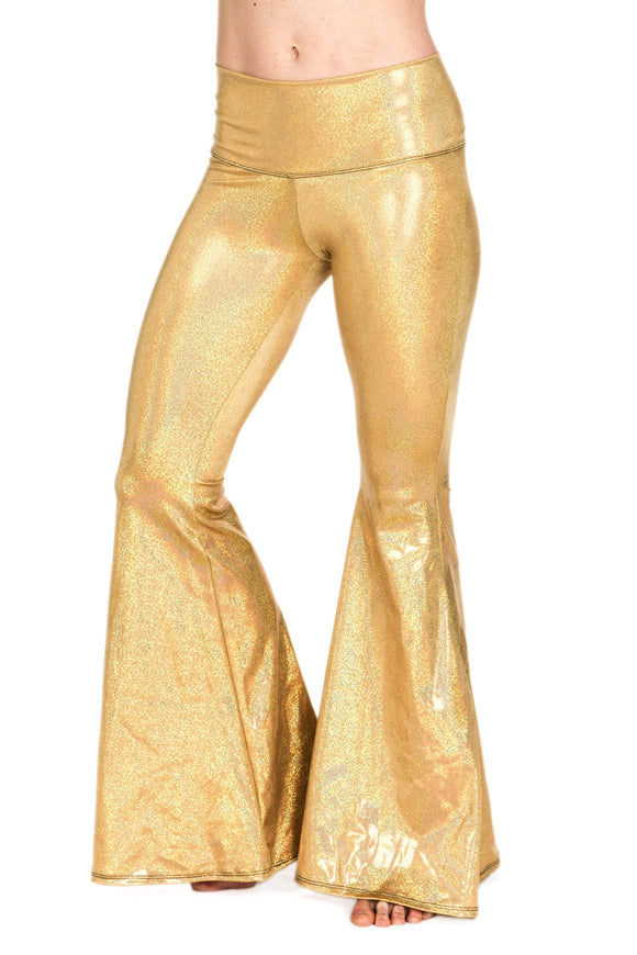 The OM Collection Pants S Regular / 14 Karat Gold Stardust Bell Bottoms // Extra Wide Bell // 14 KARAT GOLD