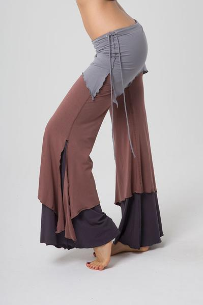 The OM Collection Pants Stone Grey / Nutmeg / Deep Grey / XS 3 Tier Flow Pants // Desert Way