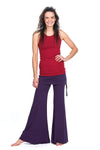The OM Collection Pants Wide Leg Pant with Mini Skirt