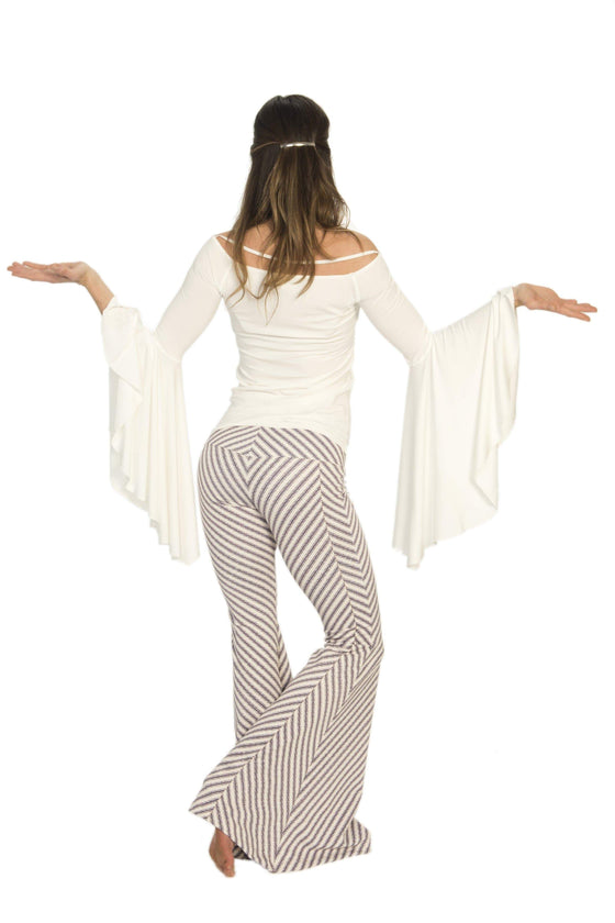 The OM Collection Pants XS Bell Bottoms // Gratitude Stripe Print