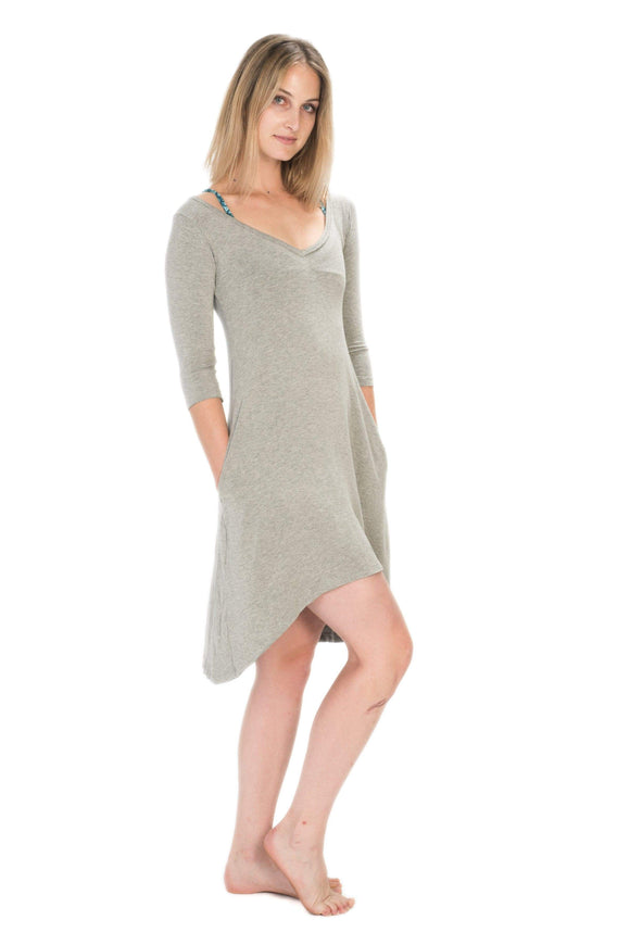 The OM Collection Grey / XS Pocket Dress