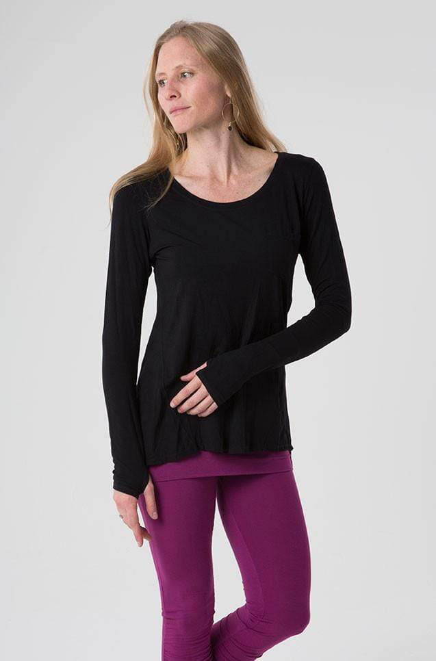 The OM Collection Shirt Black / M Sporty Long Sleeve Top // FINAL SALE