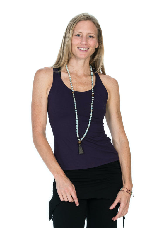 The OM Collection Shirt Plum / M Cut Back Tank Top