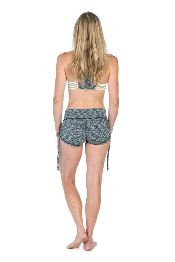 The OM Collection Shorts OM Adjustable Yoga Shorts // Grey Stratta