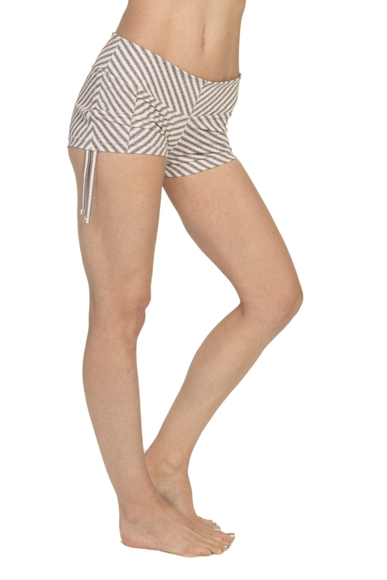 The OM Collection Shorts Side String Shorts // Gratitude Stripe Print