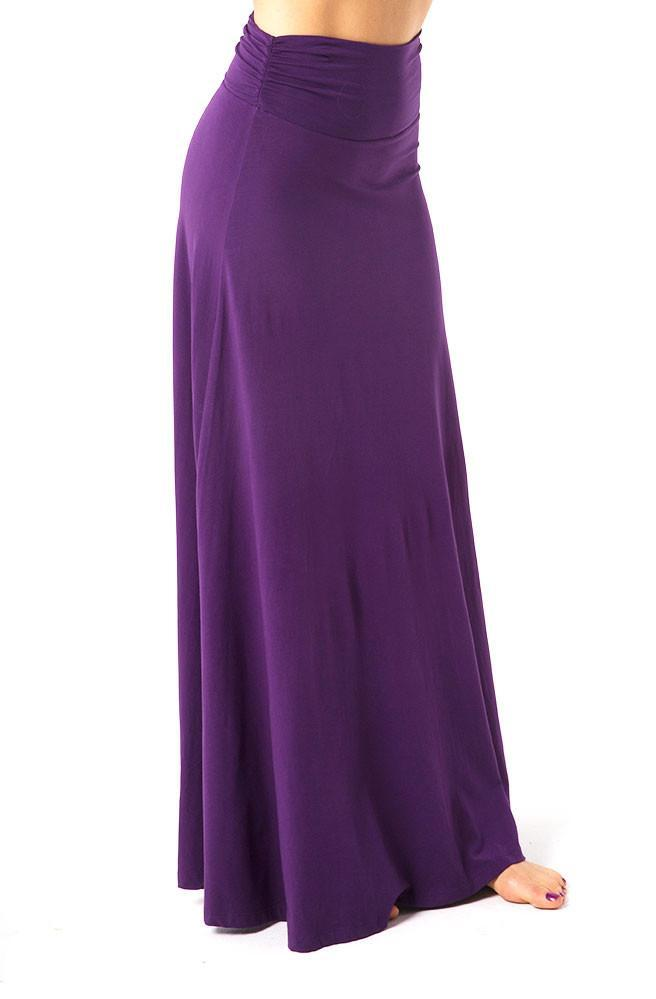The OM Collection Skirt Ruched Waistband Maxi Skirt
