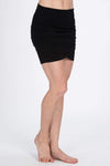 The OM Collection Skirt XS Black Tulip Mini Skirt