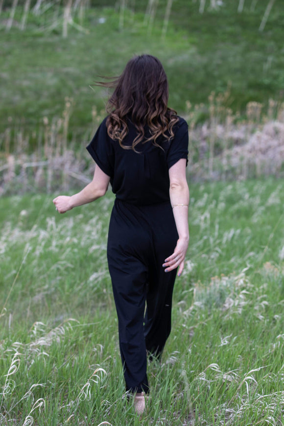 The OM Collection Black / M Wild Ride Jumpsuit