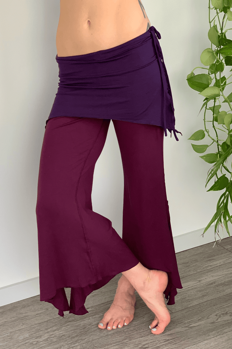 The OM Collection XS 2 Tier Flow Pants // Purple Way