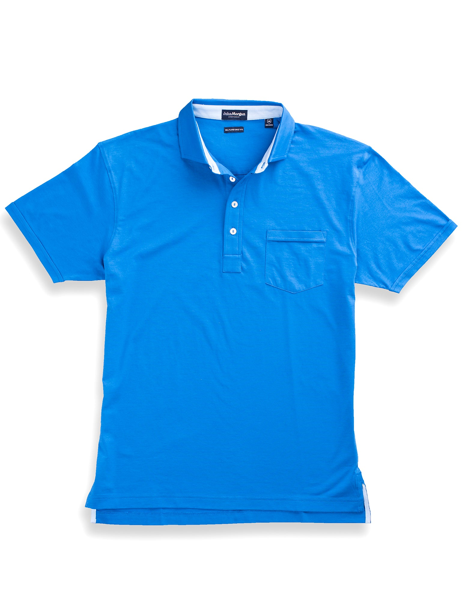 Morgan Luxe Polo with Pocket - Turkish Sea