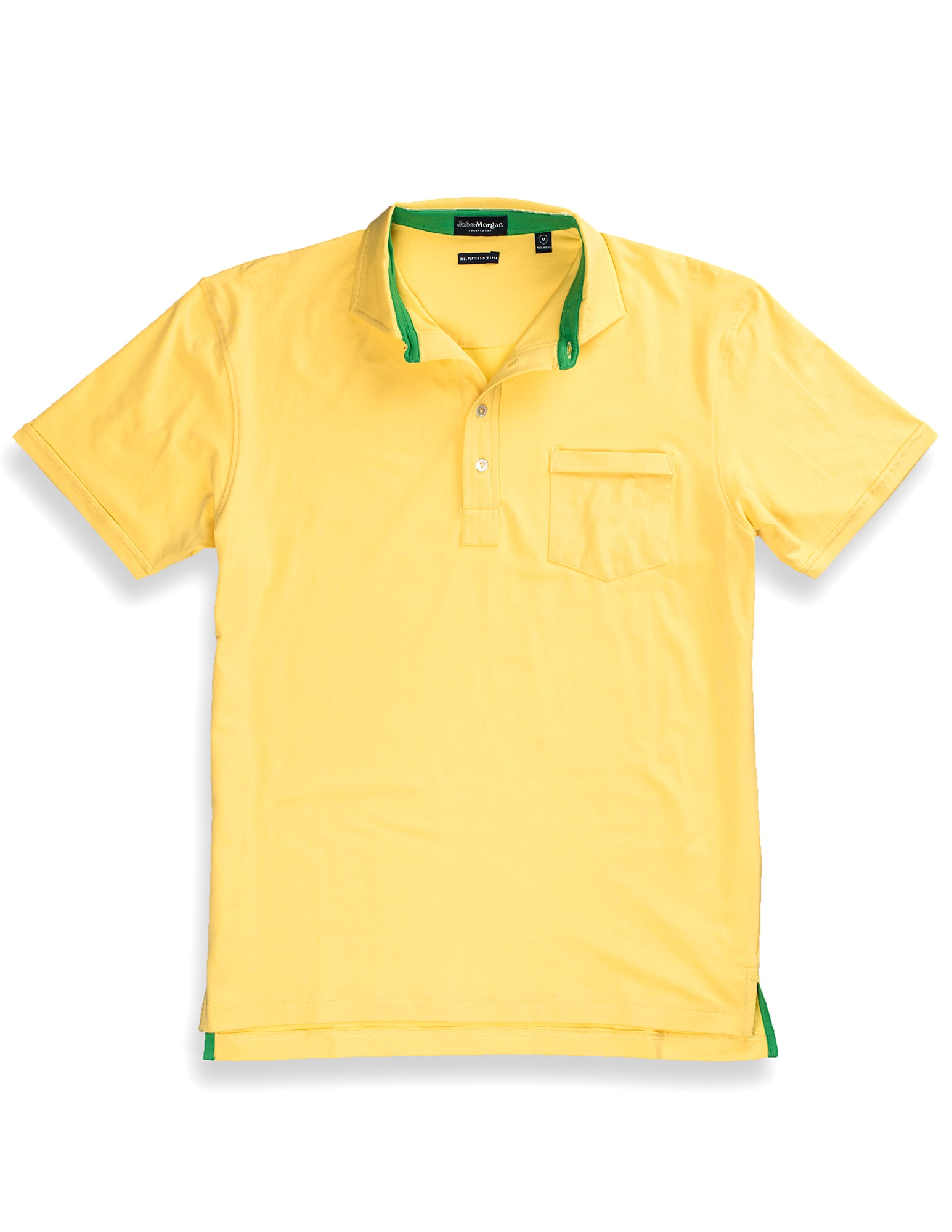 Morgan Luxe Polo with Pocket - Yellow