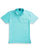 Carolina Ultimate Luxe Stripe Polo - Blue Radiance/White