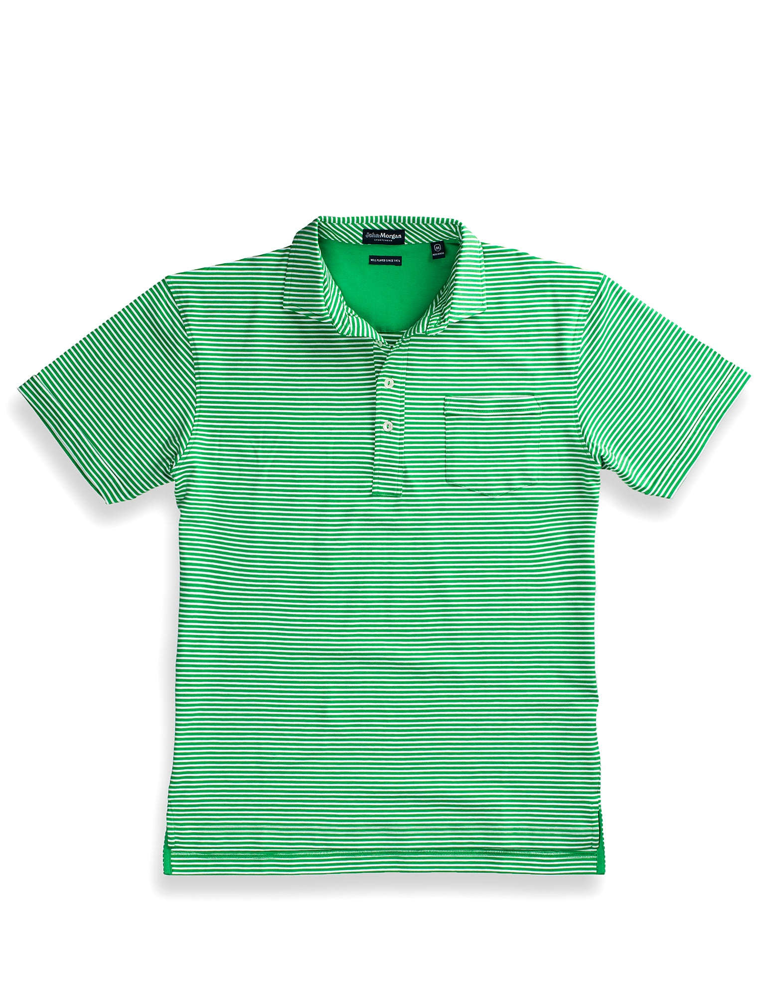 Carolina Ultimate Luxe Stripe Polo - Leaf
