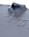 Carolina Ultimate Luxe Stripe Polo - Navy