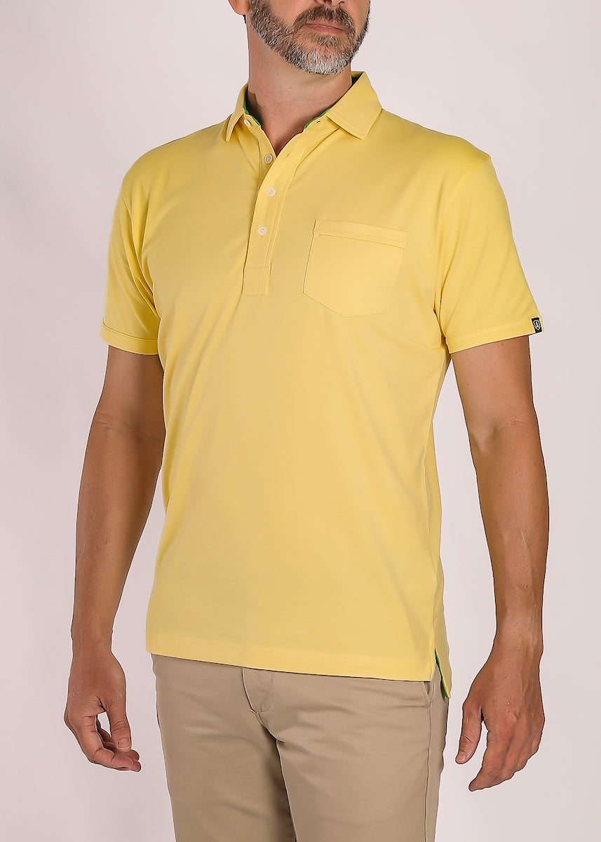 Yellow Polo Shirt with Pocket