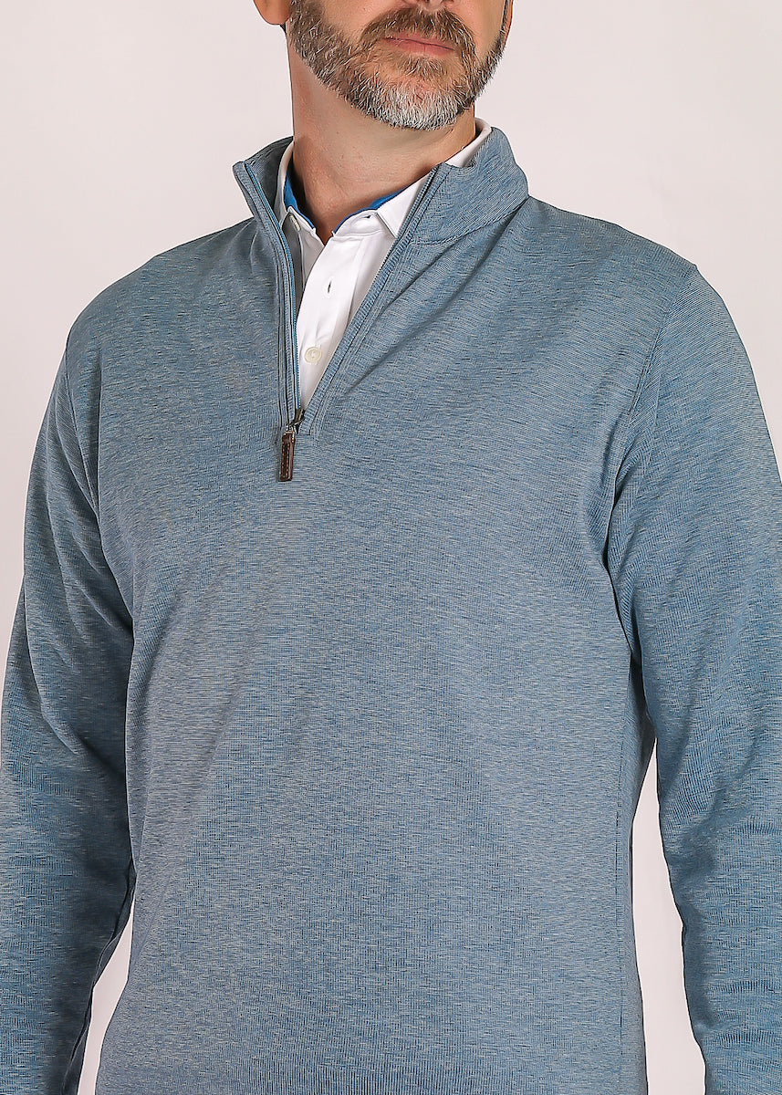 Morgan Interlock Quarter Zip - Blue