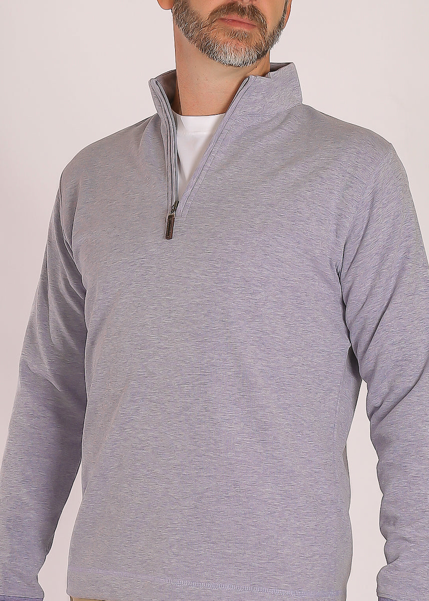 Morgan Interlock Quarter Zip - Lavender