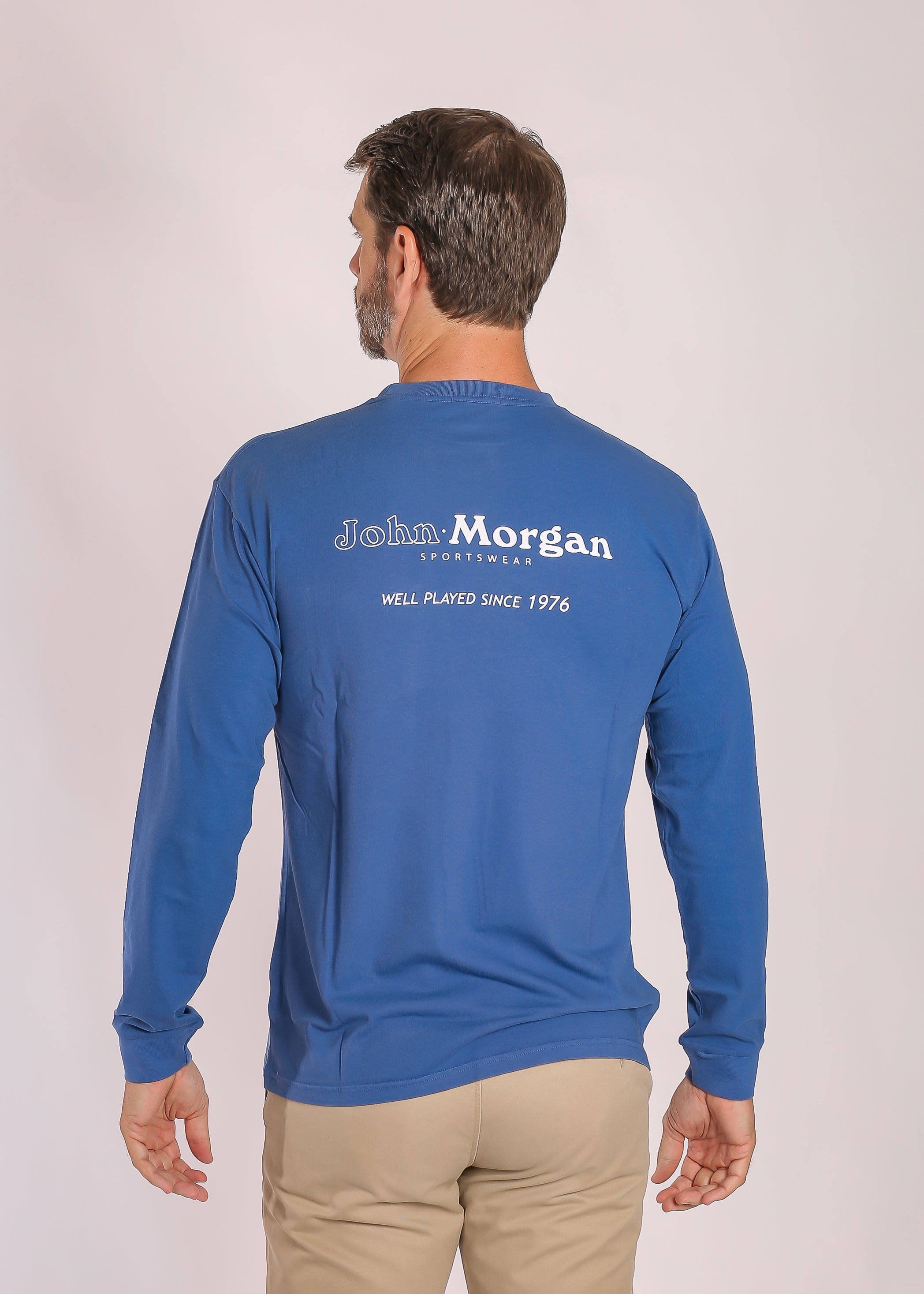 Ocean Washed Long Sleeve T Shirt - Blue