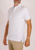 Dunlap Stripe Polo - White