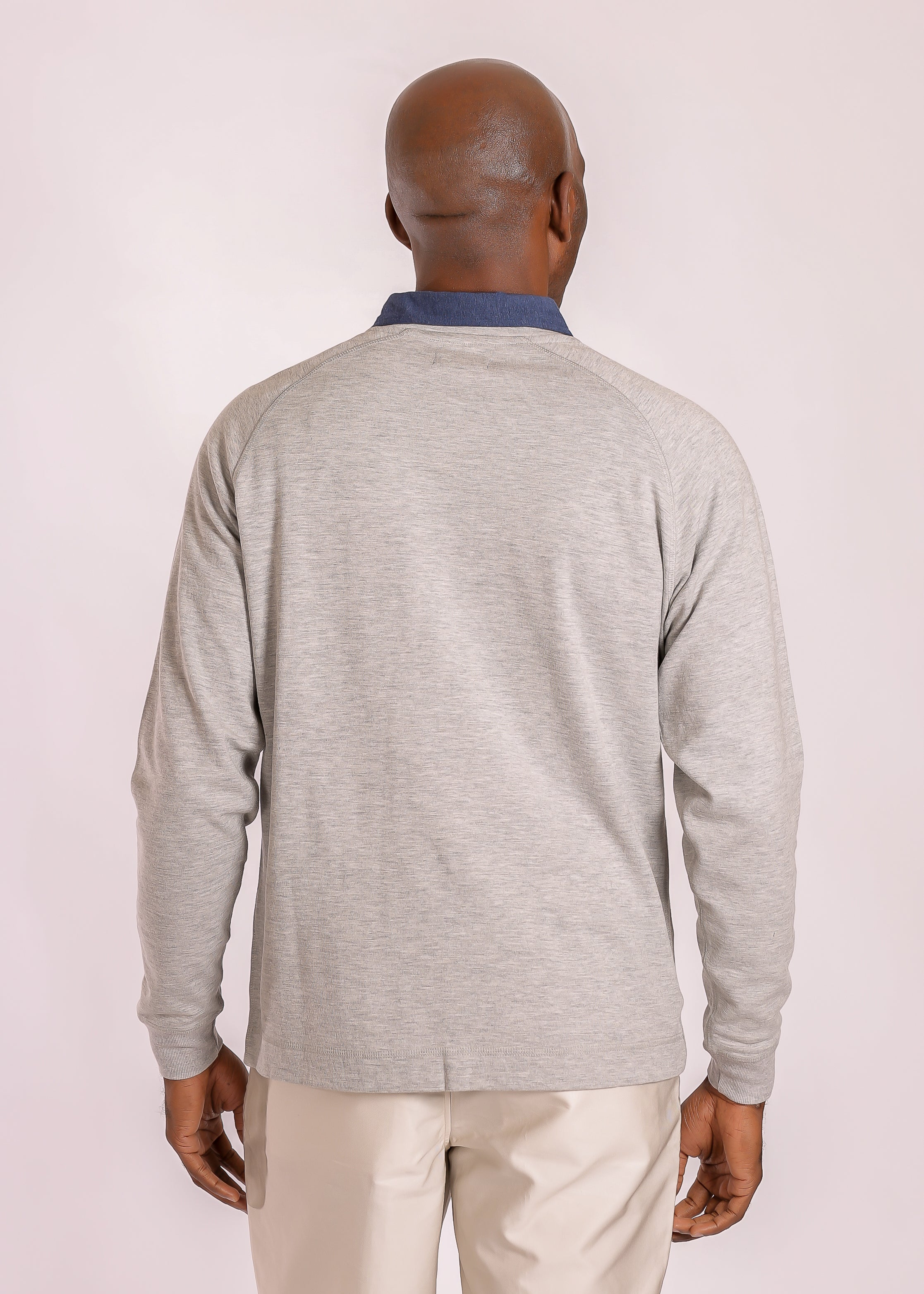 High V Pullover - Light Grey Heather