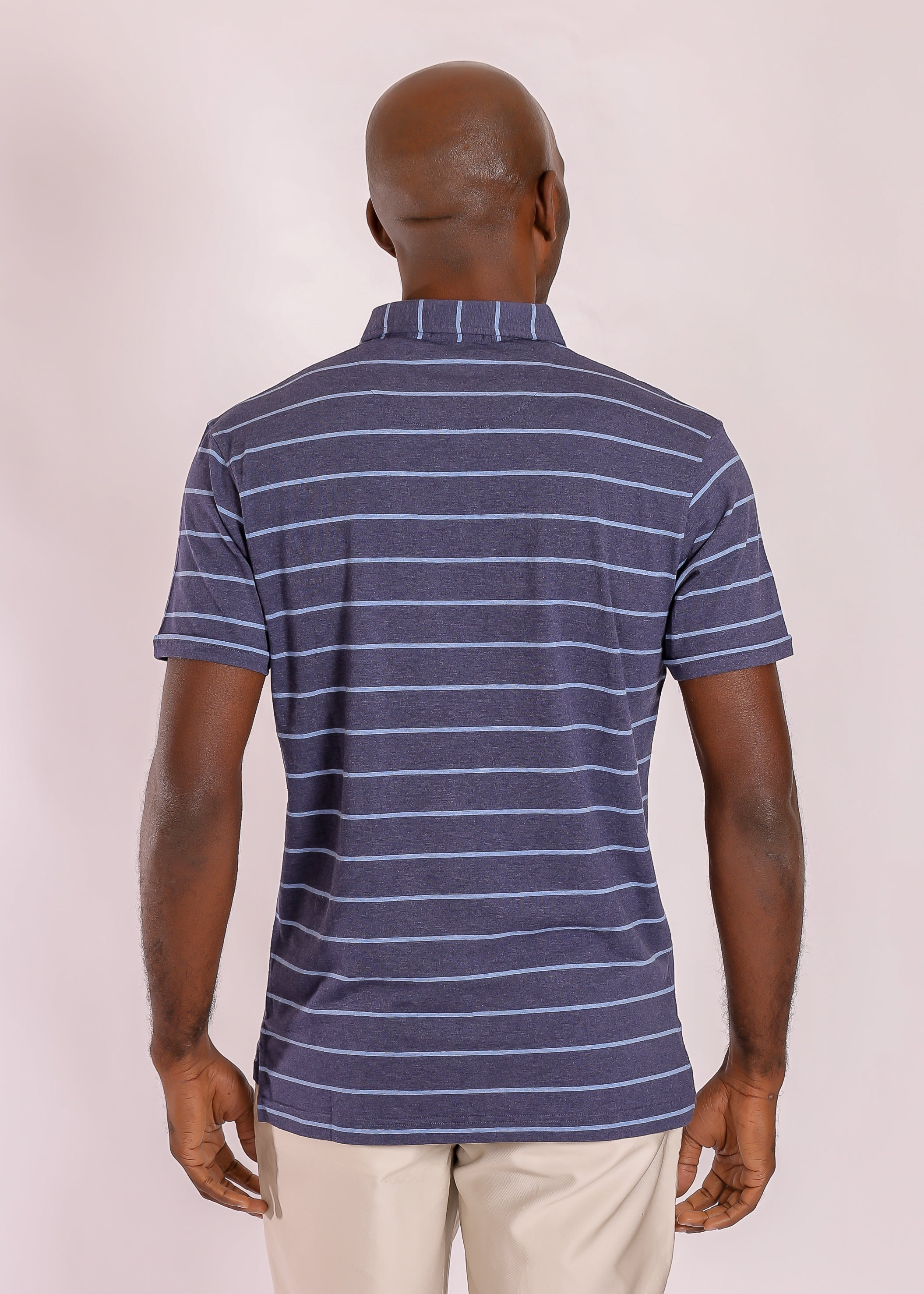 Morgan Polo Classic Wide Stripe - Yankee Blue/Vessel
